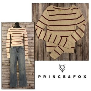 Striped Knit Sweater by Prince and Fox